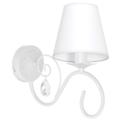 Nástěnné svítidlo LAURA 1xE14/60W/230V bílá