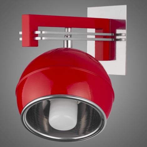 Nástěnné svítidlo QUARA SG/KU/1/R 1xE27/60W červená