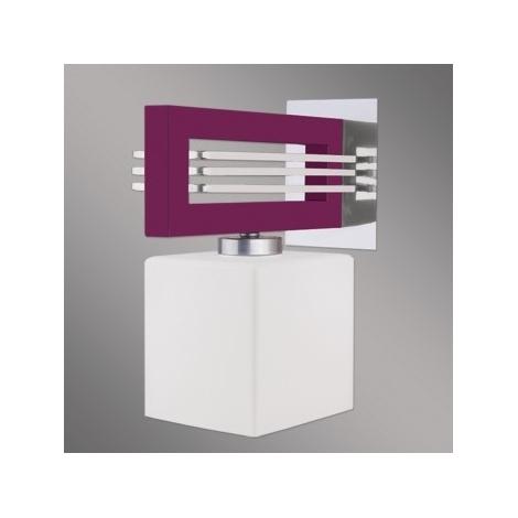 Nástěnné svítidlo SANGA 1xE14/60W fialová