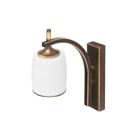 Nástěnné svítidlo SONATA STK 1xE27/60W patina - zlatá