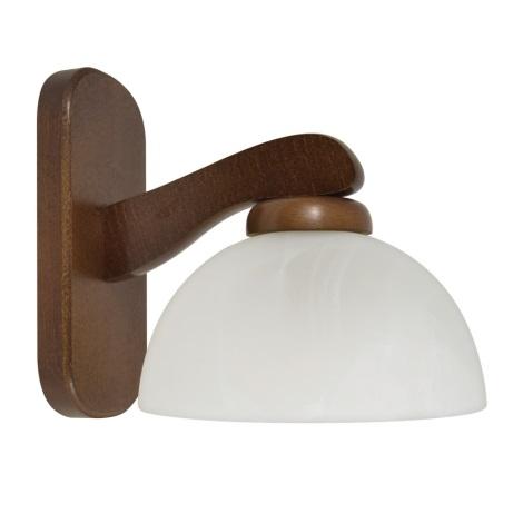 Nástěnné svítidlo TEMIDA 1xE27/60W/230V ořech