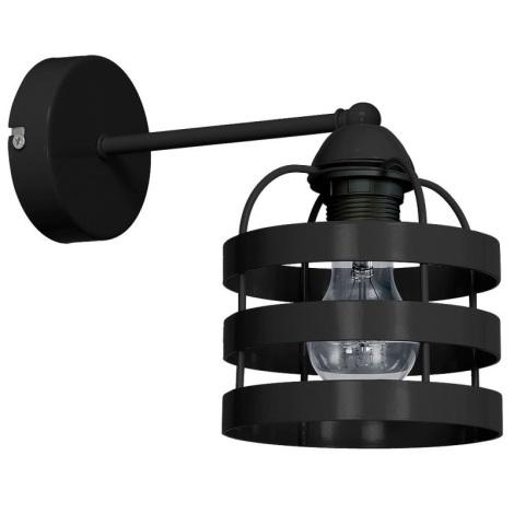 Nástěnné svítidlo TUBE 1xE27/60W/230V černá
