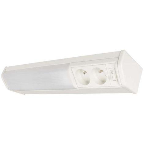 NATALIA 111 zářivkové svítidlo se zásuvkou 1xG23/11W/230-240V