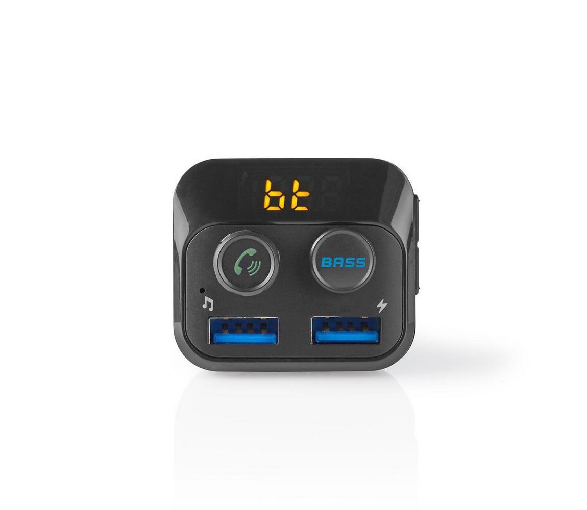 Nedis Nedis CATR120BK − FM Vysílač do auta Bluetooth/MP3/2xUSB NE0029