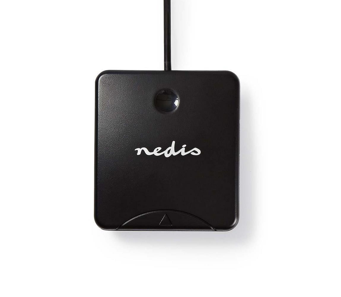 Nedis Nedis CRDRU2SM1BK − Čtečka čipových karet včetně softwaru 5V/0,5A/USB