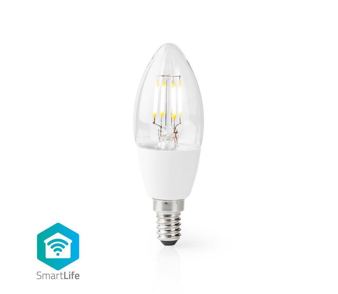 NEDIS Chytrá WiFi žárovka LED E14 5W bílá teplá WIFILF10WTC37 SMARTLIFE