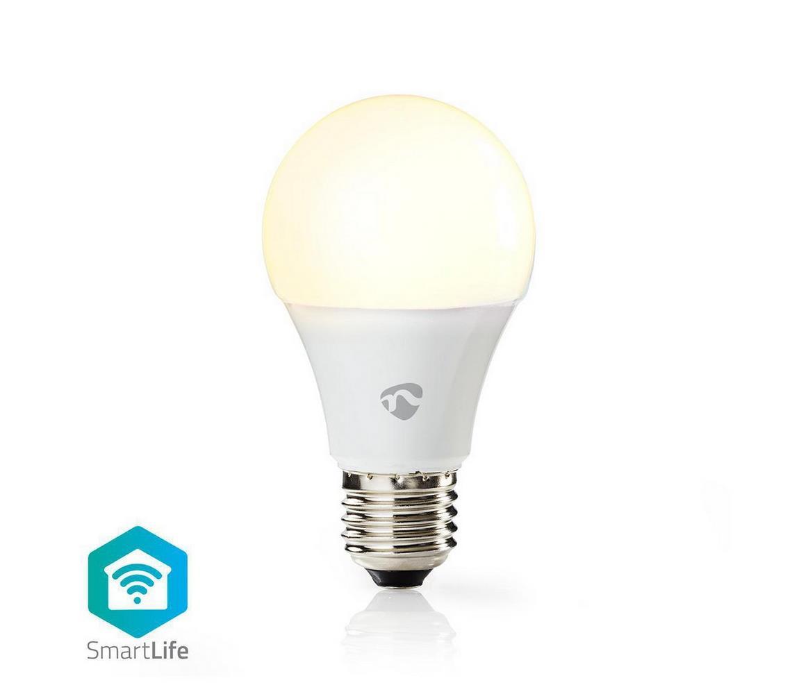 NEDIS Chytrá WiFi žárovka LED E27 9W bílá teplá WIFILW11WTE27 SMARTLIFE