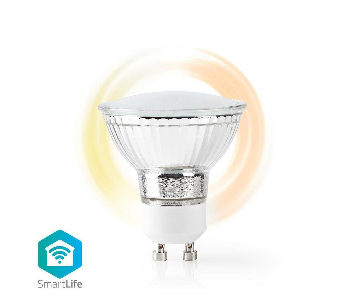 NEDIS Chytrá WiFi žárovka LED GU10 4.5W bílá teplá WIFILW12CRGU10 SMARTLIFE