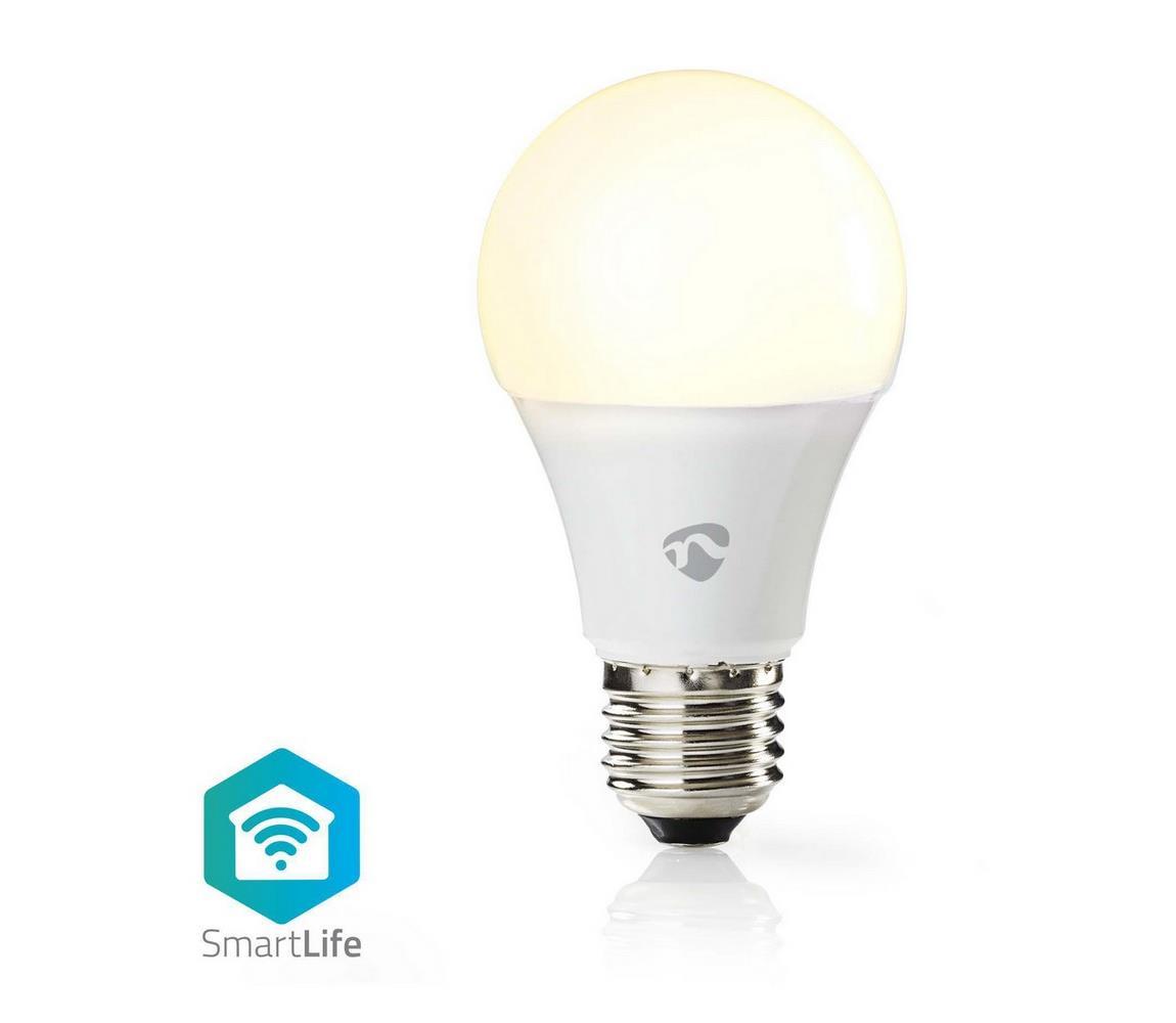 Nedis Smart žárovka LED E27 9W teplá bílá WiFi