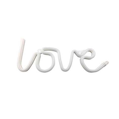 Neonový dekorační nápis LOVE 3xAA