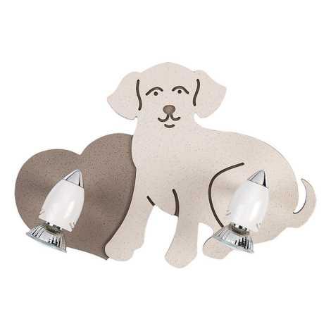 Nowodvorski 5831 - Dětské bodové svítidlo DOG 2xGU10/35W/230V