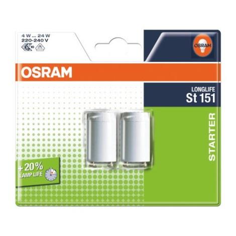 Osram - SADA 2x Zářivkový startér ST151 4-22W/230V