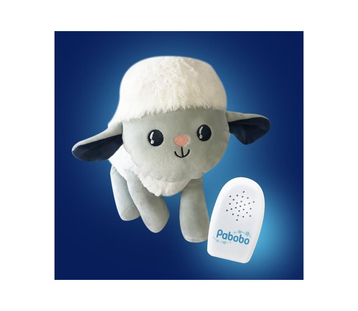 Pabobo PABOBO - Plyšová ovečka s melodií SOSO Milo 3xAAA AG0005