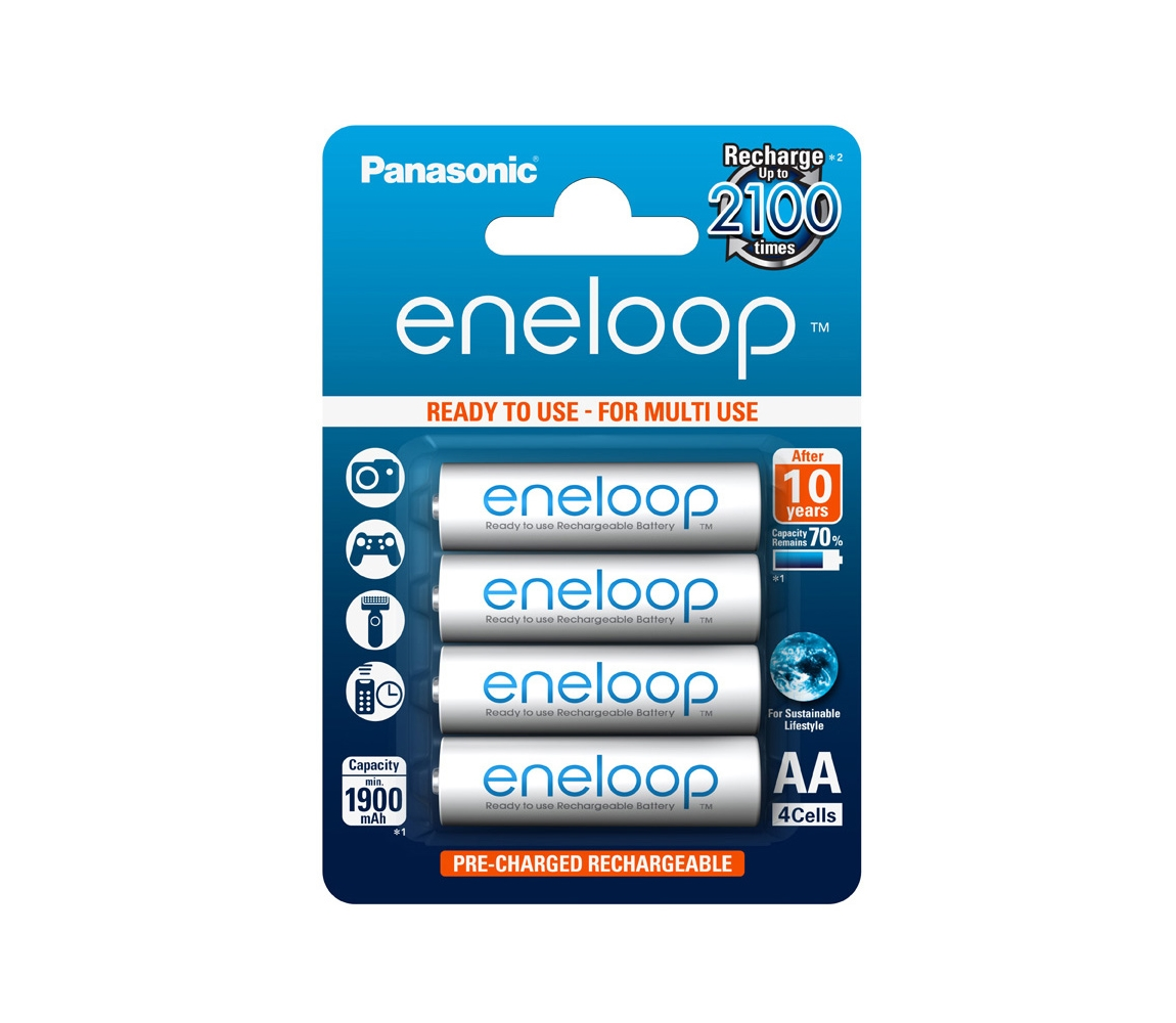 Panasonic Eneloop BK-3MCCE - 4ks nabijecí baterie AA Enelop NiMH/1,2V/1900mAh