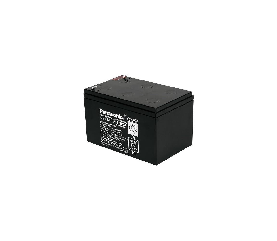 Panasonic LC-RA1212PG1 - Olověný akumulátor 12V/12Ah/faston 6,3mm