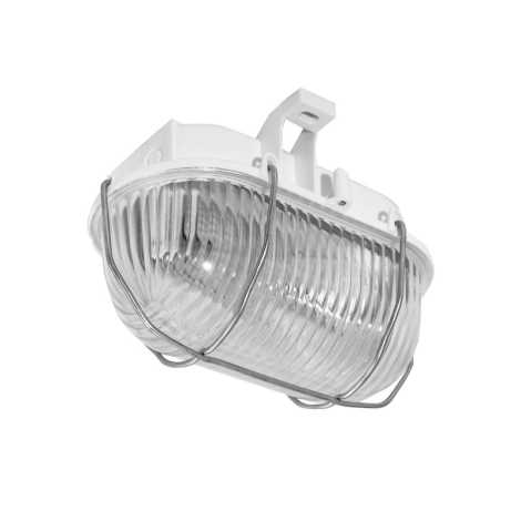 Panlux SOK-60/B - Venkovní stropní svítidlo OVAL KOV 1xE27/60W/230V bílá