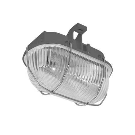 Panlux SOK-60/S - Venkovní stropní svítidlo OVAL KOV 1xE27/60W/230V šedá