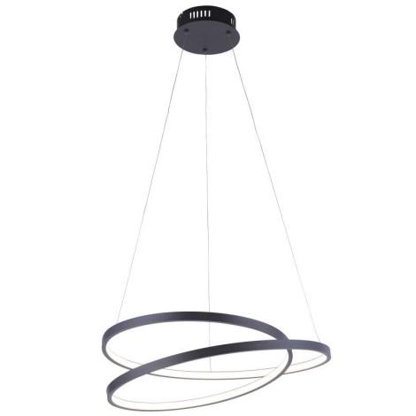 Paul Neuhaus 2472-18 - LED Stmívatelný lustr na lanku ROMAN LED/30W/230V černá