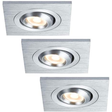 Paulmann 92524 - SADA 3xLED/3W Koupelnové podhledové svítidlo PREMIUM 230V