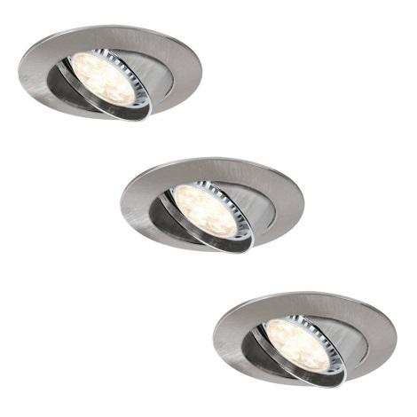 Paulmann 92709 - SADA 3xLED-GU10/8W Stmívatelné koupelnové podhledové svítidlo PREMIUM 230V