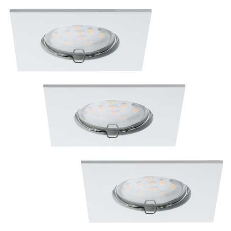 Paulmann 92760 - SADA 3xLED/6,8W IP44 Koupelnové podhledové svítidlo COIN 230V