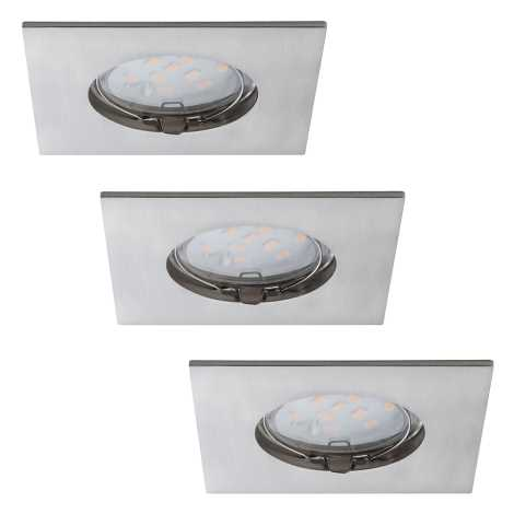 Paulmann 92762 - SADA 3xLED/6,8W Koupelnové podhledové svítidlo PREMIUM 230V IP44