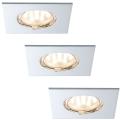 Paulmann 92763 - SADA 3xLED/6,8W Koupelnové podhledové svítidlo COIN 230V IP44