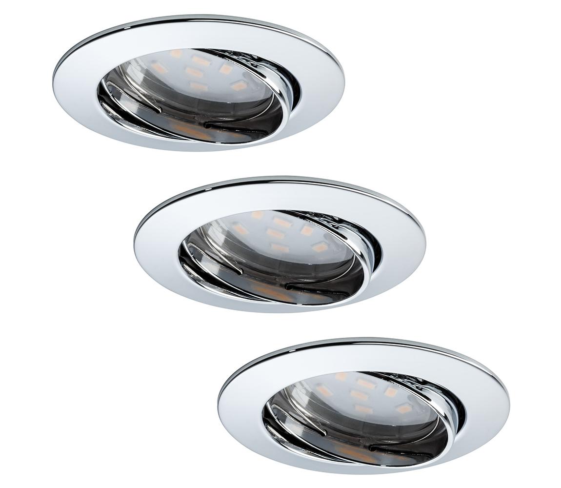 Paulmann Paulmann 92770 - SADA 3x LED Koupelnové podhledové svítidlo COIN 3xLED/6,8W/230V W0563