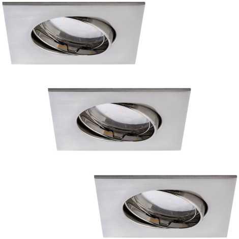 Paulmann 92773 - SADA 3xLED/6,8W Koupelnové podhledové svítidlo COIN 230V