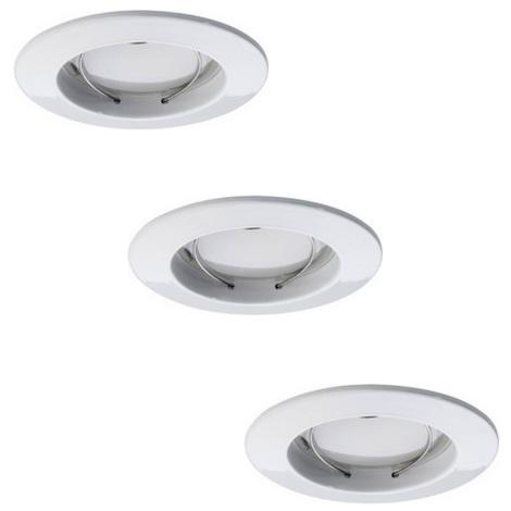 Paulmann 92823 - SADA 3xLED/7W Stmívatelné koupelnové podhledové svítidlo COIN 230V IP44