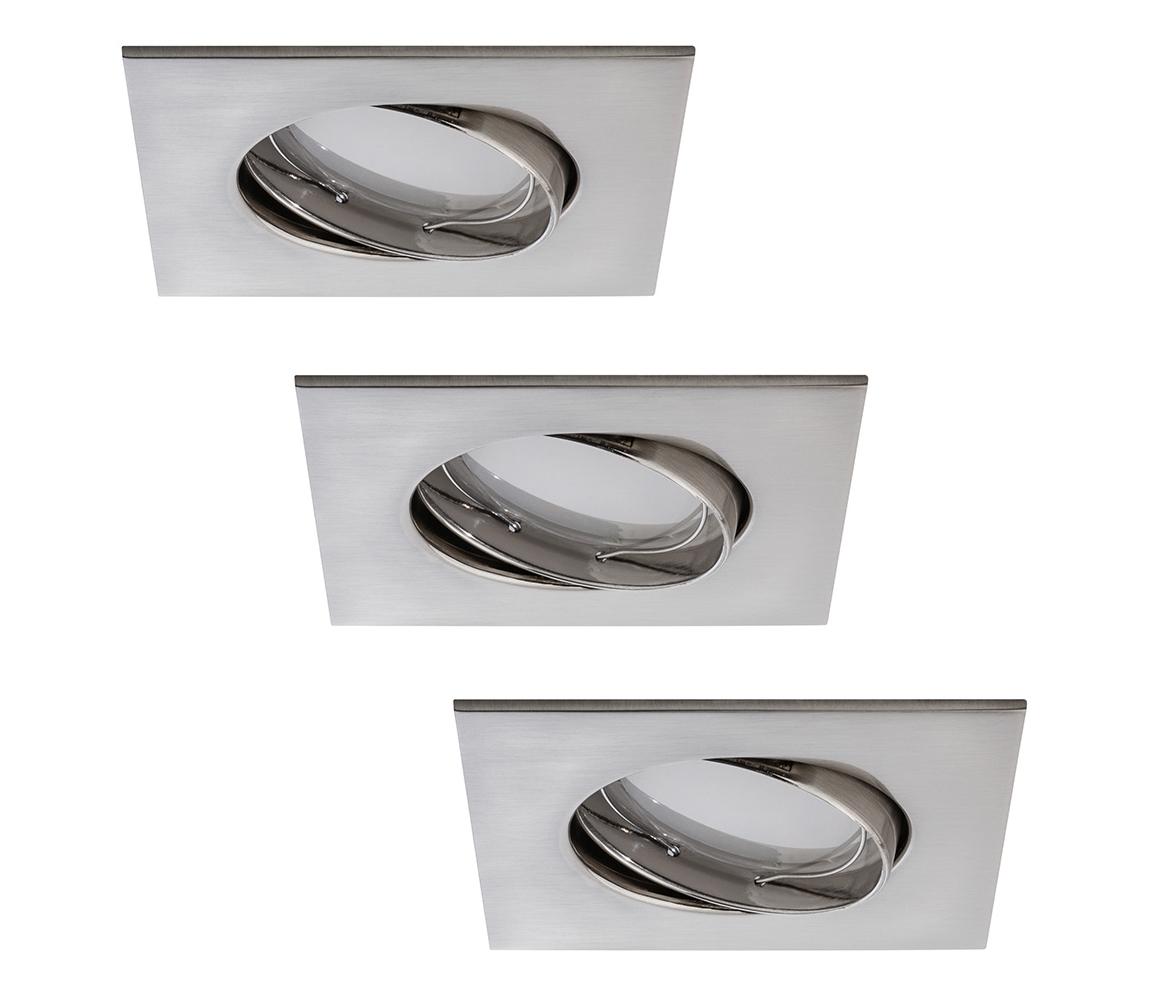 Paulmann Paulmann 92841 - SADA 3x LED Koupelnové podhledové svítidlo COIN 3xLED/7W/230V W0560