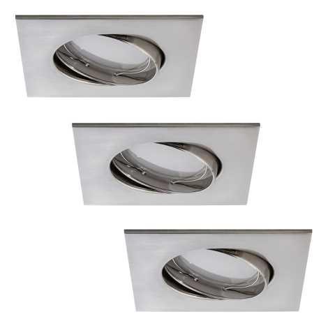 Paulmann 92841 - SADA 3xLED/7W Stmívatelné koupelnové podhledové svítidlo COIN 230V