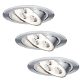 Paulmann 93541 - SADA 3x LED Podhledové svítidlo MICRO LINE 3xLED/3W/230V