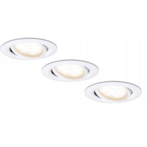 Paulmann 93936 - SADA 3x LED/6W Stmívatelné koupelnové podhledové svítidlo COIN 230V