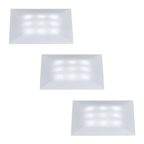 Paulmann 98862 - SADA 3x LED/1W IP67 Venkovní podhledové svítidlo UPDOWNLIGHT QUADRO 230V