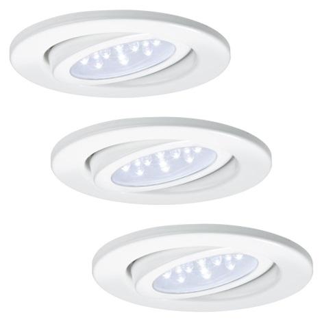 Paulmann - Nice Price 93004 - SADA 3x LED podhledové svítidlo BASIC 3xLED/0,8W/230V