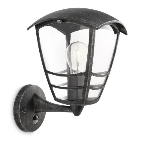 Philips 15468/54/16 - Venkovní nástěnné světlo s čidlem MYGARDEN STREAM E27/60W