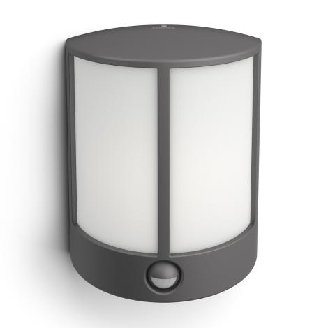 Philips 16465/93/16 - LED venkovní světlo s čidlem MYGARDEN STOCK LED/6W