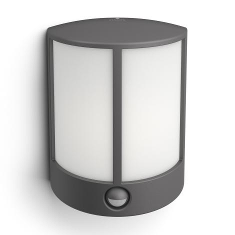 Philips 16465/93/P3 - LED venkovní nástěnné svítidlo s čidlem MYGARDEN STOCK 1xLED/6W/230V