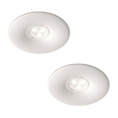 Philips 16861/31/16 - SADA 2x LED Koupelnové podhledové svítidlo LEDINO LED/7,5W/230V