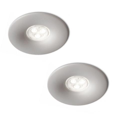 Philips 16861/87/16 - SADA 2x LED Koupelnové podhledové svítidlo LEDINO 2xLED/7,5W