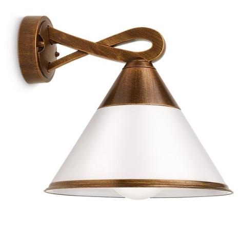 Philips 17259/06/16 - Venkovní nástěnné svítidlo MYGARDEN FIG 1xE27/15W/230V bronzová