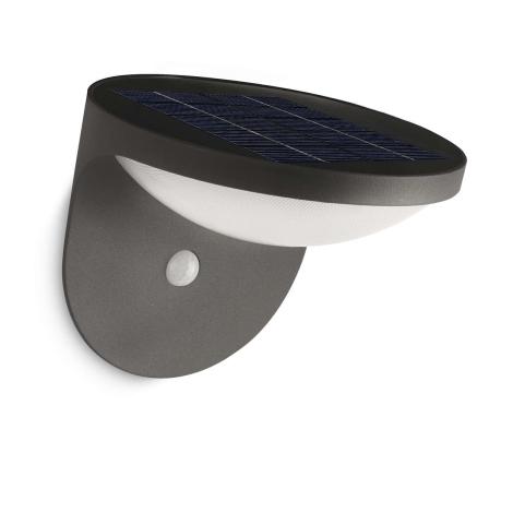 Philips 17808/93/16 - LED venkovní solární světlo s čidlem DUSK 1xLED/1W/3,7V