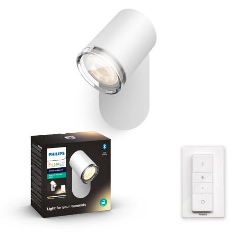 Philips 34178/31/P6 - LED Stmívatelné koupelnové nástěnné svítidlo HUE ADORE 1xGU10/5W/230V IP44 + dálkové ovládání