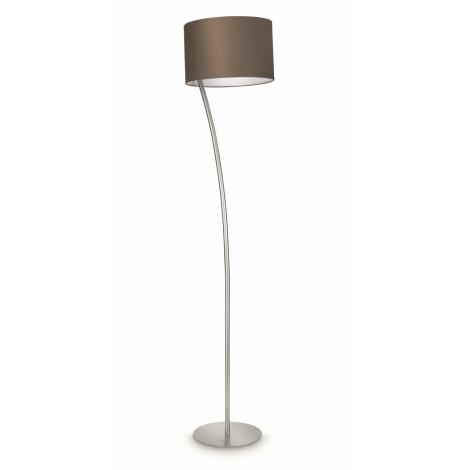 Philips 42258/26/16 - Stojací lampa LEOD hnědá 1xE27/23W/230V