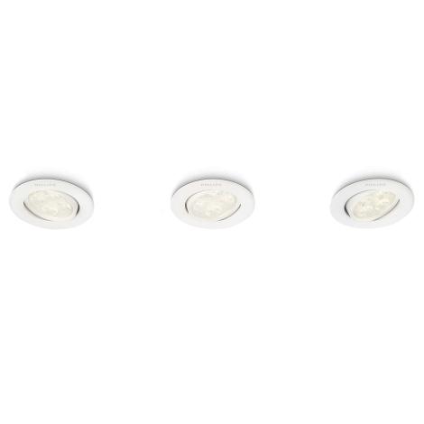 Philips 45090/31/16 - SADA 3x LED podhledové svítidlo ALBIREO 3xLED/4W/230V