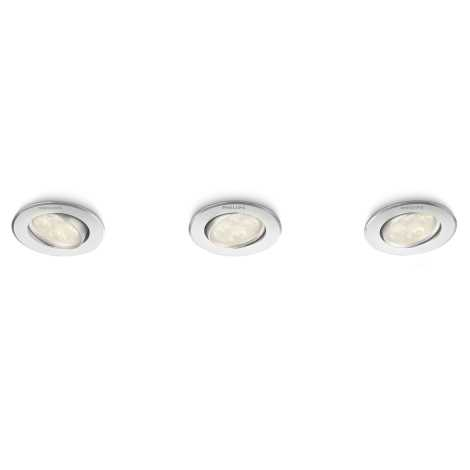 Philips 45090/48/16 - SADA 3x LED podhledové svítidlo ALBIREO 1xLED/4W/230V
