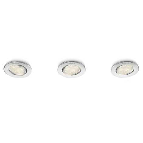 Philips 45090/48/16 - SADA 3x LED podhledové svítidlo ALBIREO 3xLED/4W/230V