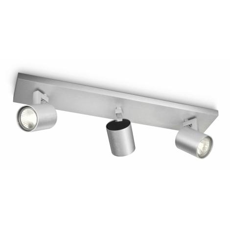 Philips 53093/48/16 - Bodové svítidlo RUNNER stříbrné 3xGU10/35W/230V
