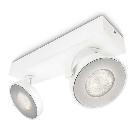 Philips 53172/31/16 - LED bodové svítidlo MYLIVING CLOCKWORK 2xLED/4W/230V